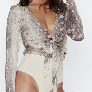 Nasty Gal Snake Print Bodysuit *Out Of Stock*